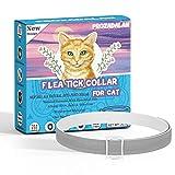 Collar Antiparasitario Gatos, 35cm Ajustable Collares Antipulgas para Gatos, 100% Naturales Antiparasitarios Gatos Collar, 8 Meses de Protección para Gatos,...